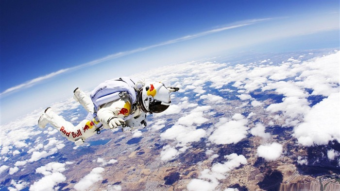 red bull skydive-Sports Theme HD Wallpaper Views:11453