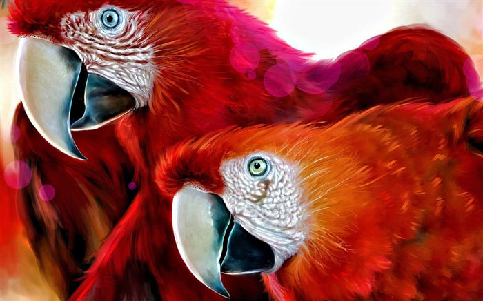 scarlet macaw-Cute animals wallpaper Views:4834