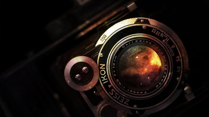 space in vintage camera lens-Photography World Wallpaper Views:13939