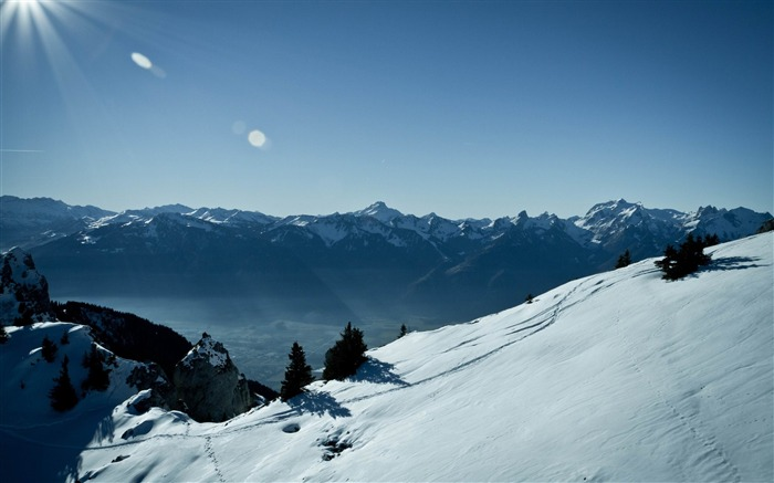 switzerland mountains-winter natural landscape wallpaper Views:4721