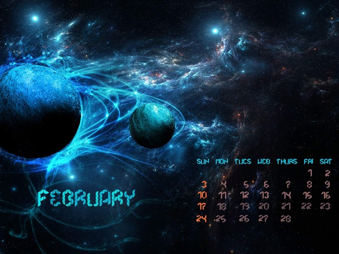 Abstract-February 2013 calendar desktop themes wallpaper Views:3761