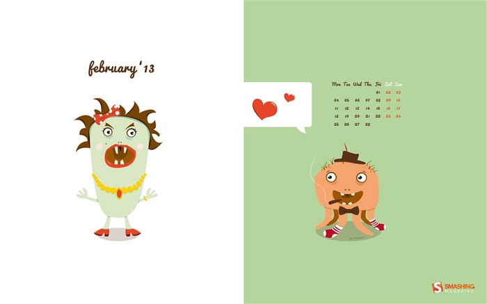 Be My Valentine-February 2013 calendar desktop themes wallpaper Views:3566