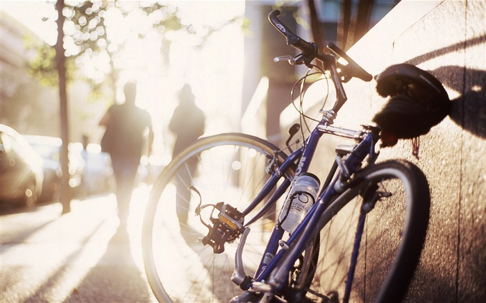 Bicycle theme photography widescreen wallpaper 01 Views:7378