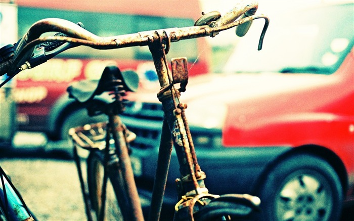 Bicycle theme photography widescreen wallpaper 05 Views:3968