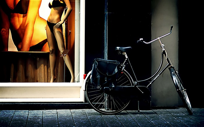 Bicycle theme photography widescreen wallpaper 10 Views:3715