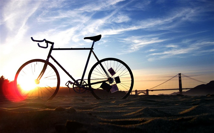 Bicycle theme photography widescreen wallpaper Views:21794