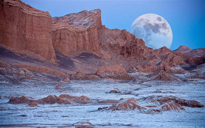 Chile Valley of the Moon Atacama Desert-natural landscape HD wallpaper Views:37189