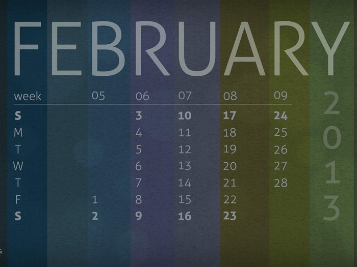 Moody February-February 2013 calendar desktop themes wallpaper Views:2488