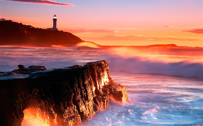 Nora Lighthouse soldiers Beach Australia-natural landscape HD wallpaper Views:4862