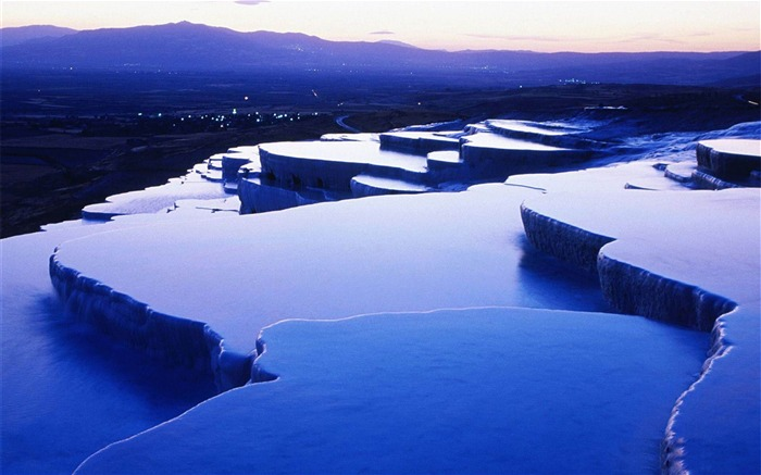 Pamukkale Denizli City photography HD wallpaper Views:9623