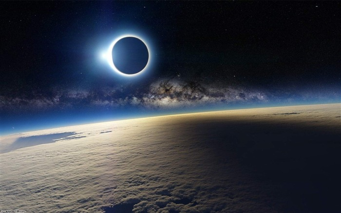 Solar Eclipse from Space-Universe space HD Desktop Wallpaper Views:9935