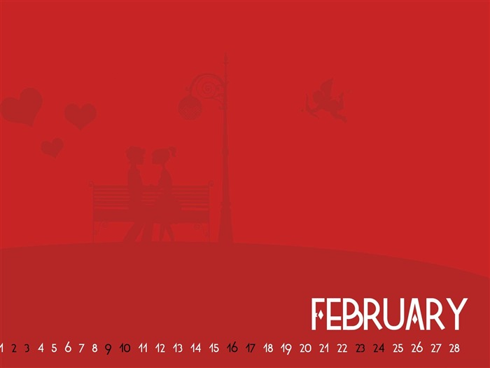 Valentine-February 2013 calendar desktop themes wallpaper Views:2168