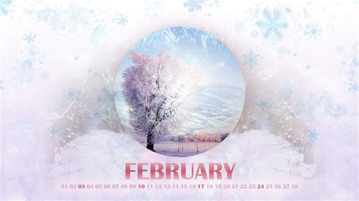 Winter-February 2013 calendar desktop themes wallpaper Views:1982