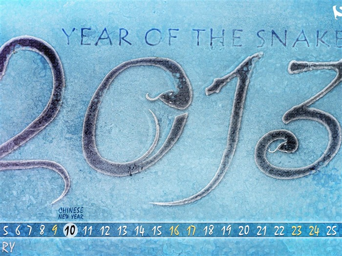 Year Of The Snake-February 2013 calendar desktop themes wallpaper Views:2024