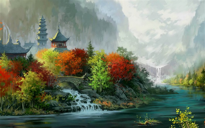 autumn colors-Drawings creations HD Wallpaper Views:6062