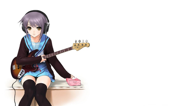 nagato yuki-anime characters widescreen wallpapers Views:3214