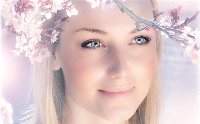 spring girl-2013 pure beauty photo wallpaper Views:10760