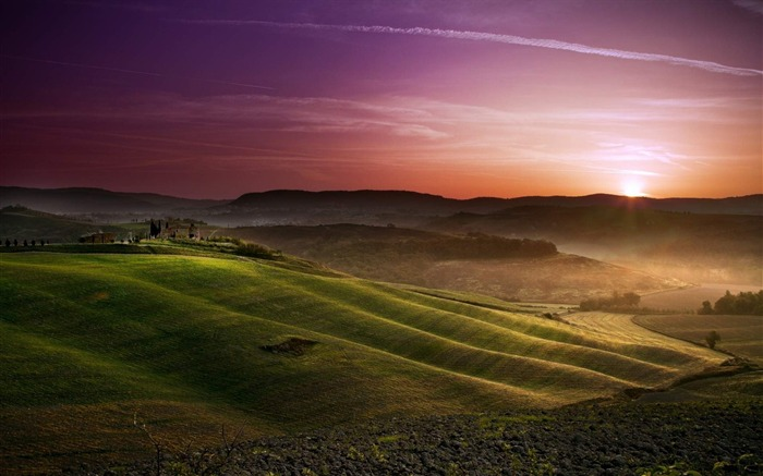 sunset in tuscany-Natural scenery HD Wallpaper Views:7971