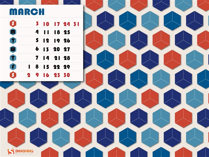 Abstract Retro-March 2013 calendar desktop themes wallpaper Views:4238