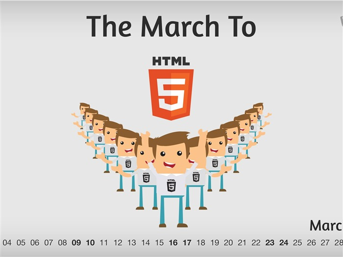 HTML5 March-March 2013 calendar desktop themes wallpaper Views:6694