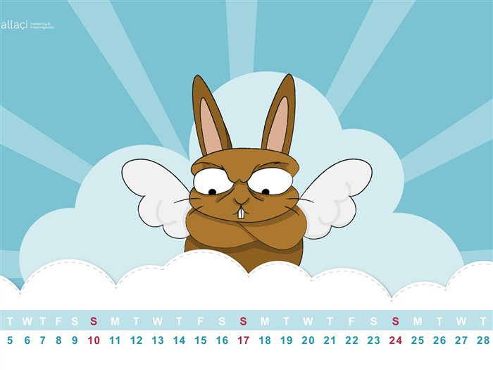 Happy Easter-March 2013 calendar desktop themes wallpaper Views:4232