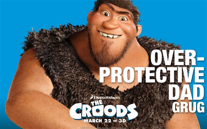 OVER PROTECTIVE DAD GRUG-The Croods 2013 Movie HD Desktop Wallpaper Views:3766