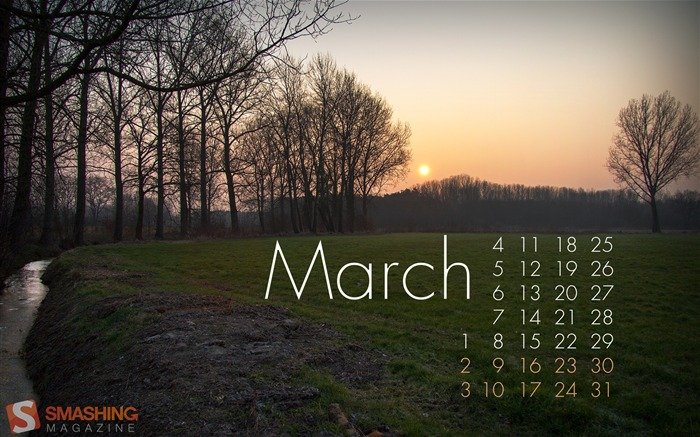 Sunrise-March 2013 calendar desktop themes wallpaper Views:2304