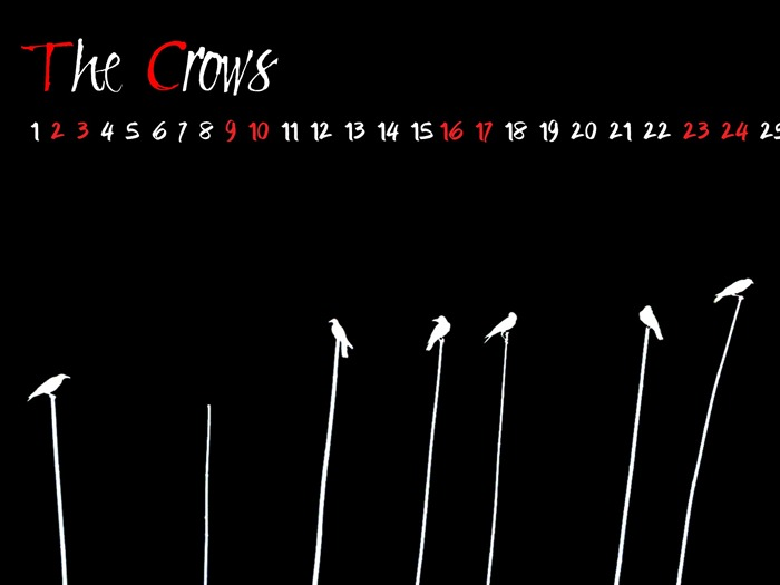 The Crow-March 2013 calendar desktop themes wallpaper Views:2693