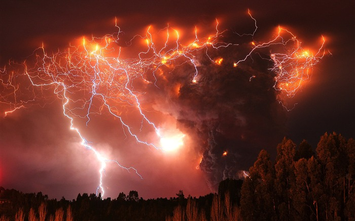 Volcanic eruption magma HD photography wallpaper 06 Views:13723