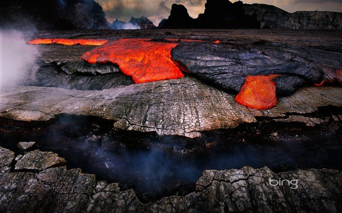 Volcanic eruption magma HD photography wallpaper 09 Views:3277