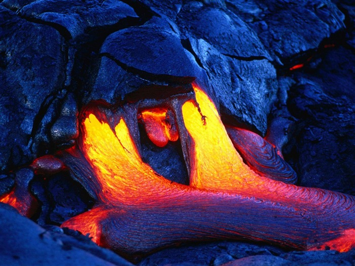 Volcanic eruption magma HD photography wallpaper 10 Views:6580