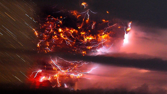 Volcanic eruption magma HD photography wallpaper 13 Views:5333