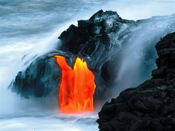 Volcanic eruption magma HD photography wallpaper 14 Views:3265