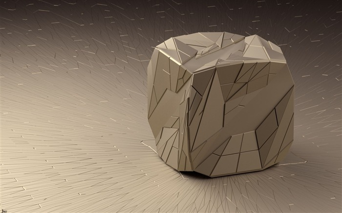 art cube line render shape triangles edges-3D Creative Design HD wallpaper Views:3603