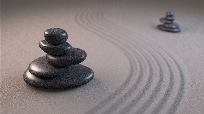 art sand stones pyramid lines grooves-3D Creative Design HD wallpaper Views:3331