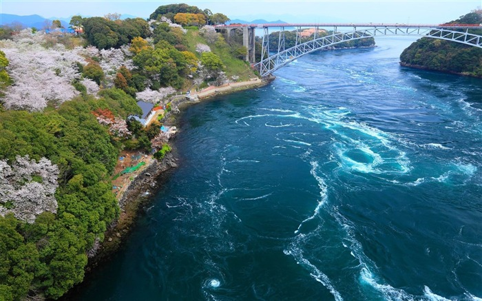 bridge sea from above embankment-Natural scenery HD wallpaper Views:4049