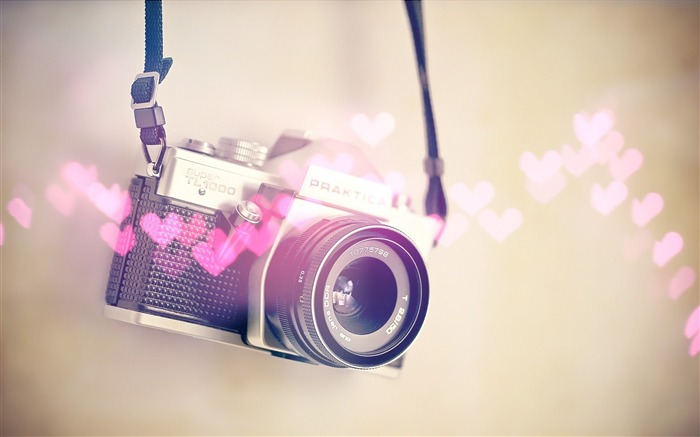 camera heart blurring-quality Desktop HD wallpaper Views:3352