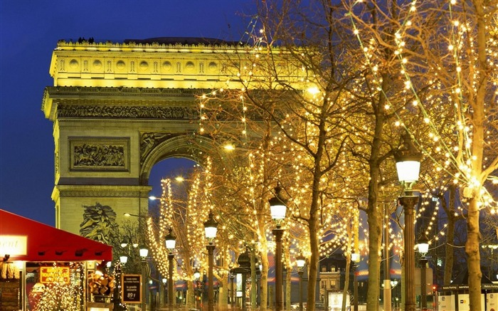 christmas trees decorations-Cities landscape widescreen wallpaper Views:4563