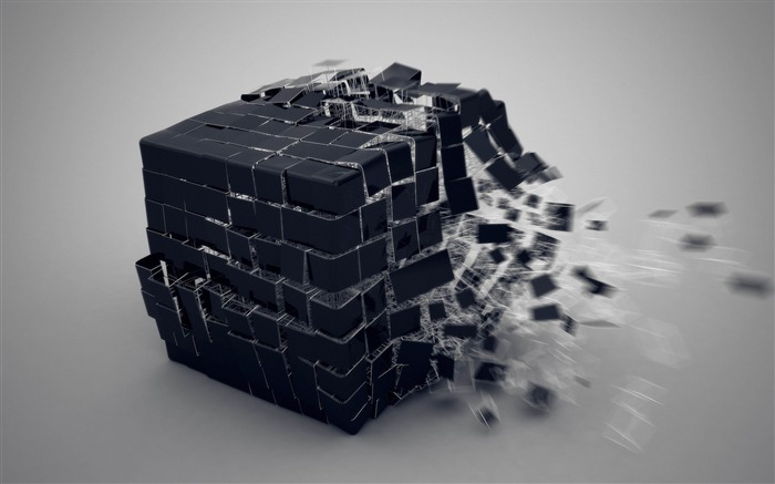 cube burst forming-3D Creative Design HD wallpaper Views:6600