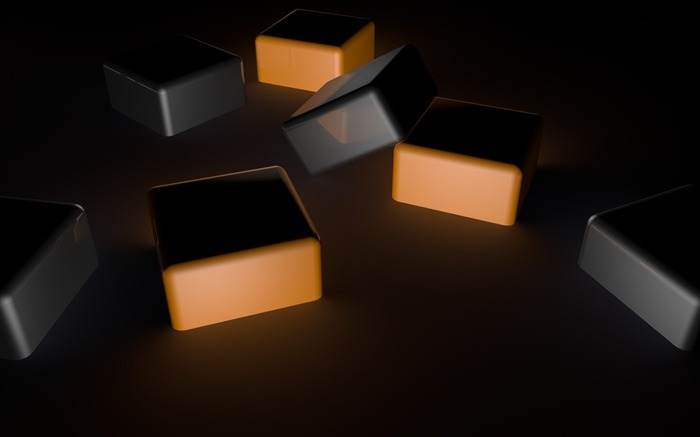 cubes dark shadows space-3D Creative Design HD wallpaper Views:5324