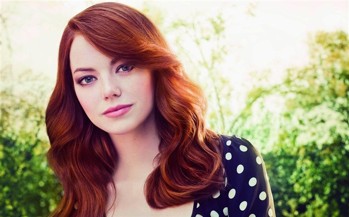 emma stone face red hair person look-beauties Girls HD Wallpaper Views:25303