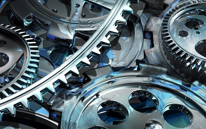 gear art mechanism-3D Creative Design HD wallpaper Views:27099