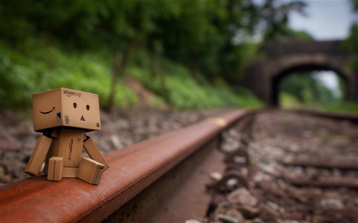 rail mood-Danboard boxes robot photo HD desktop Wallpaper Views:32945