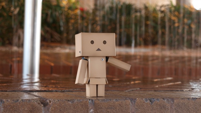 rain pavement cloudy-Danboard boxes robot photo HD Wallpaper Views:8285