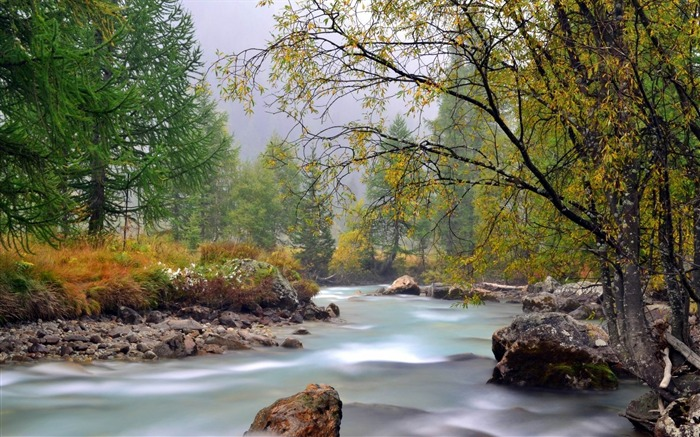 river mountain trees-Natural scenery HD wallpaper Views:5864