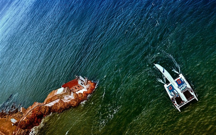 sailing vessel from above corner construction coast-Natural scenery HD wallpaper Views:2944