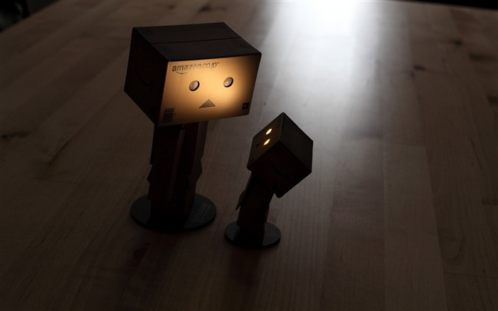 steam parquet shadow dark-Danboard boxes robot photo HD Wallpaper Views:11052