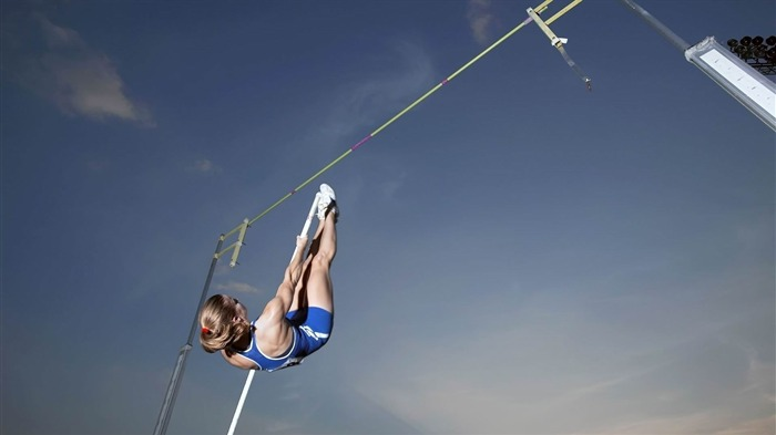 track and field jump pole sportswoman sky-Sports theme wallpapers Views:2447