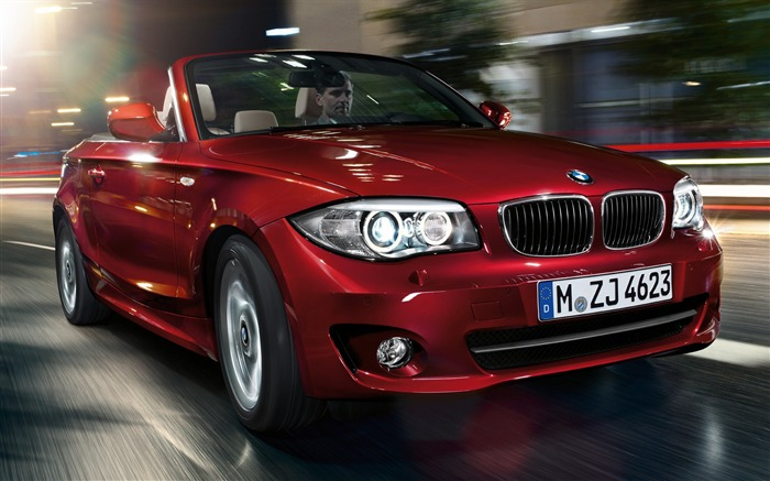 BMW red classic 1 Series Convertible car HD wallpaper Views:8220