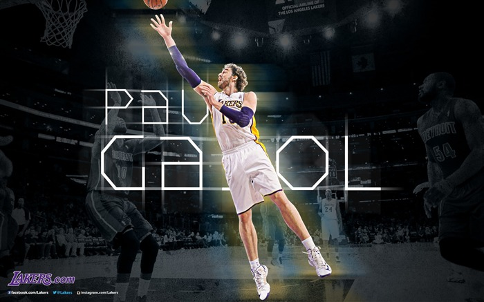 Pau Gasol-NBA Los Angeles Lakers 2012-13 season Wallpaper Views:3360
